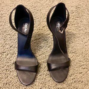 Black skinny 4-inch heels